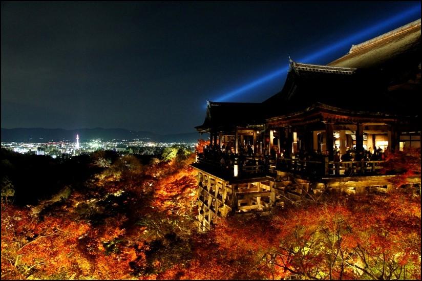 Kiyomizu-dera, Kyoto, night view