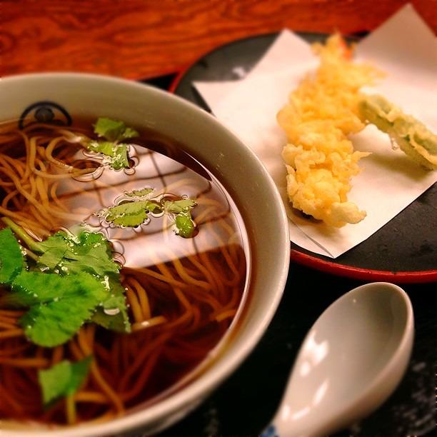 Sarashina Horii, tempura soba