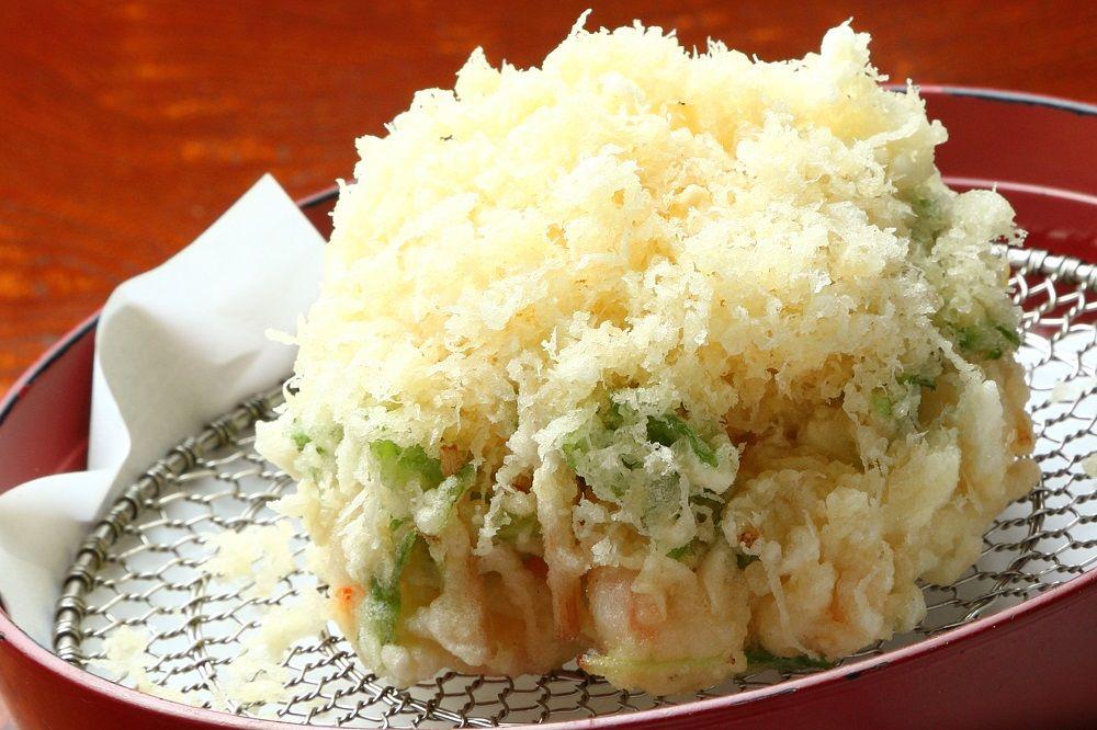 Soba mae, Kakiage mori, appetizer, PHOTO by Saori Yoshida