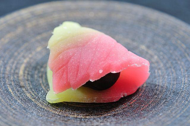 Wagashi, fall leave folded sweets