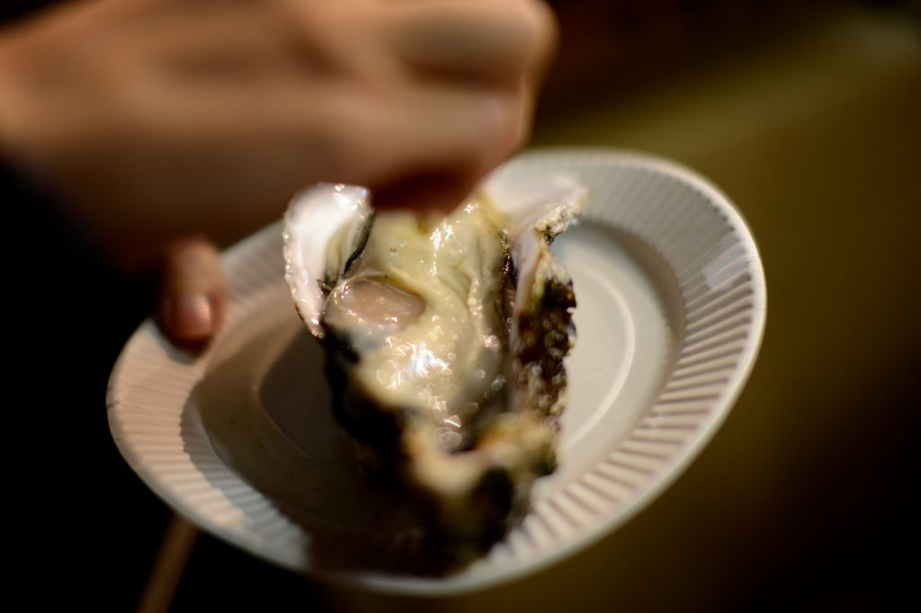 tsukiji miyako, raw oyster
