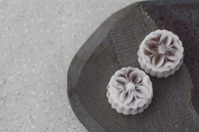wagashi, winter sweets, shimono-hana
