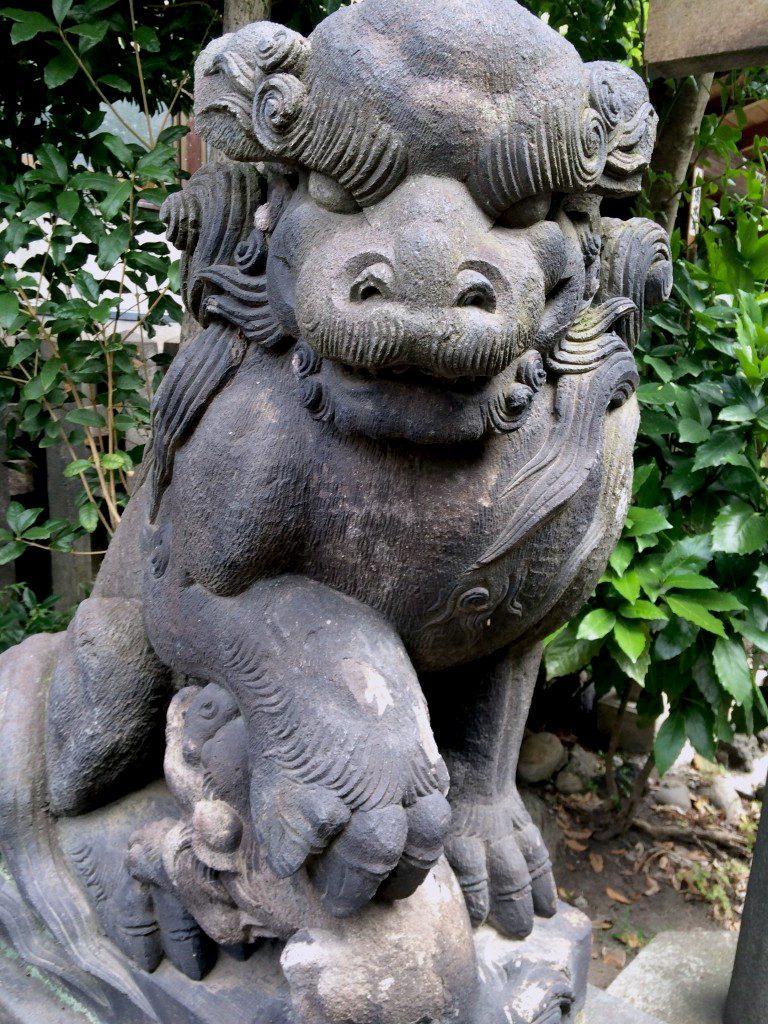 Sacred Lion in Kurofune Shrine, Tokyo