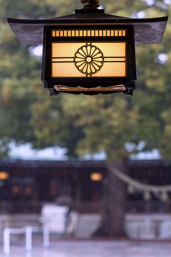 Japanese Family Crest, Meiji Jingu crest on lantern