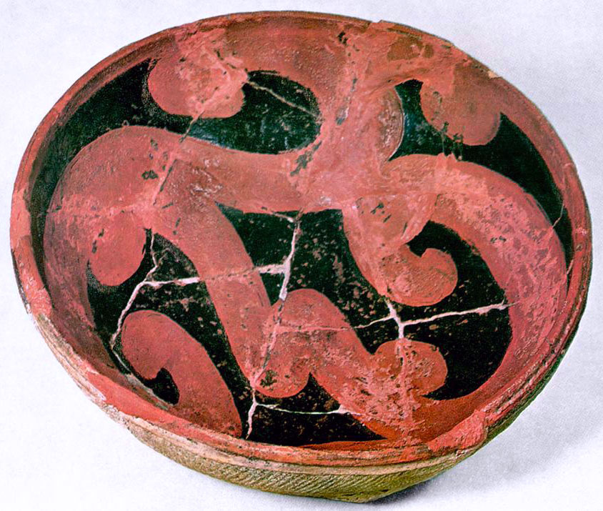Jomon Eartheware, ASABACHI- This shallow bowl was made from clay, around 700-300 B.C.E.