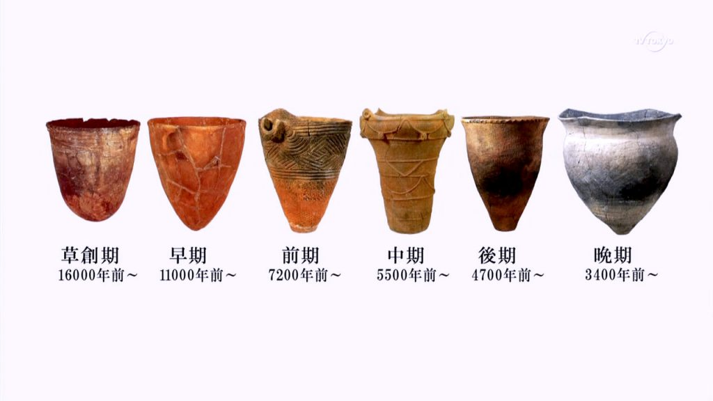 Jomon Pottery Characteristics in each period