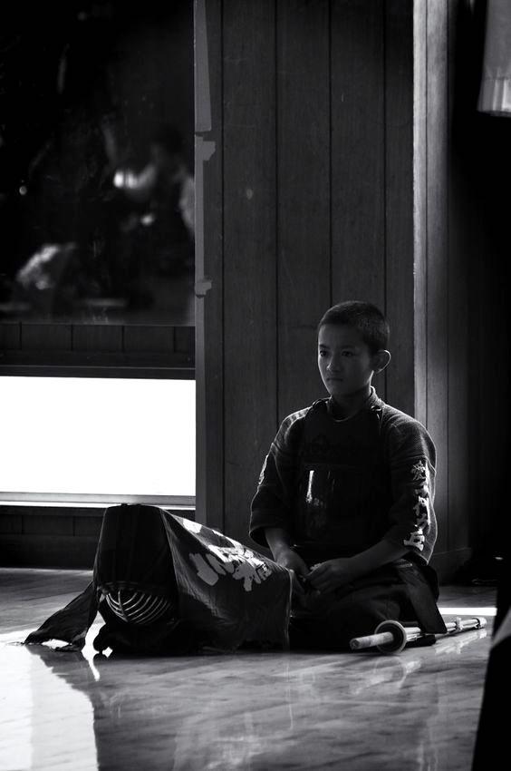 Kendo, a boy practitioner