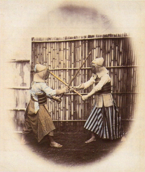 Kendo photo by Felice Beato in the late period of Edo