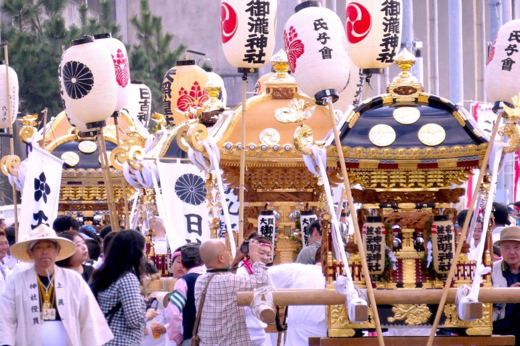 Mikoshi in Nanso-satomi Festival