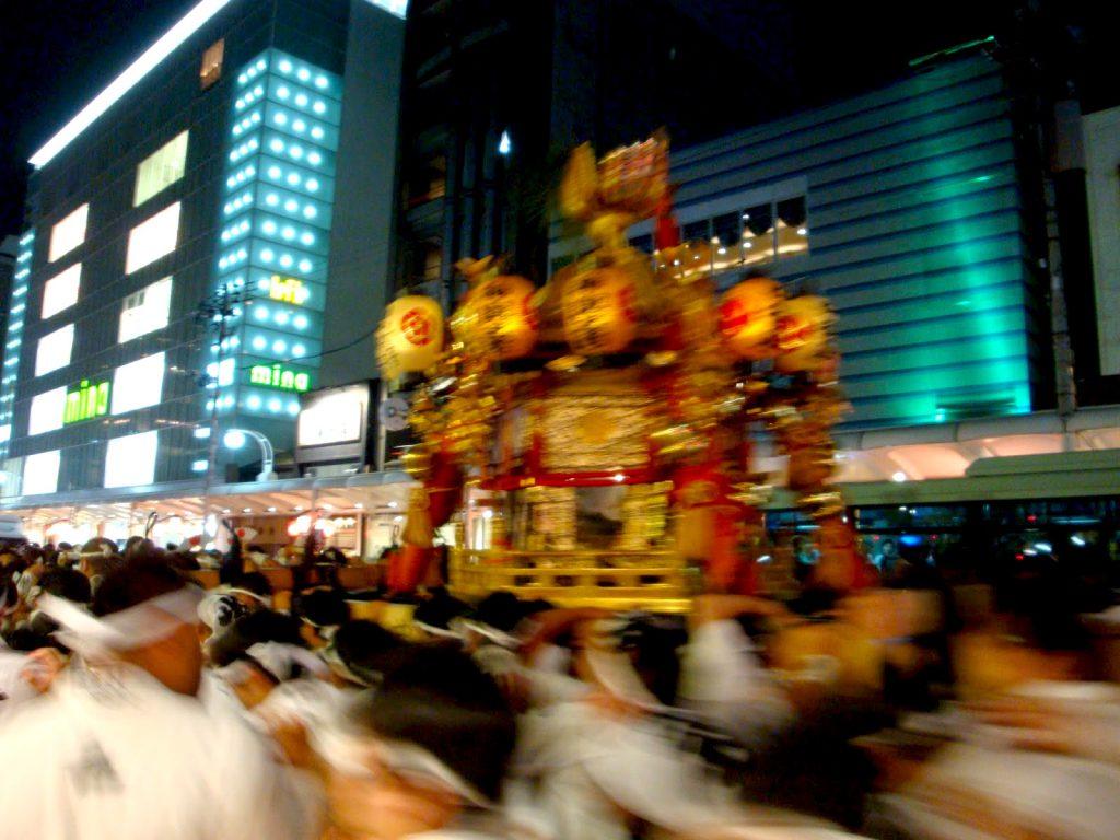Mikoshi of Yasaka Shrine at Gion Festiaval