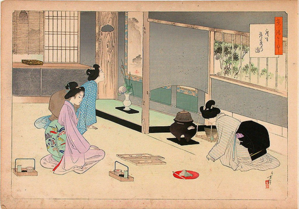 Daily Practice of the Tea Ceremony, Making Usu-cha (a weak infusion of powdered tea) by Toshikata Mizuno