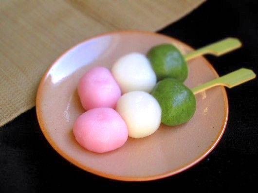 Hanami Dango, rice-dumplings
