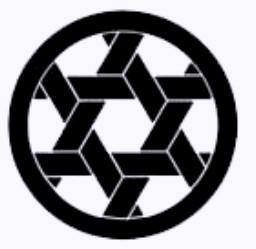 Kagome (wickerwork) pattern on Kamon of Knome Shrine