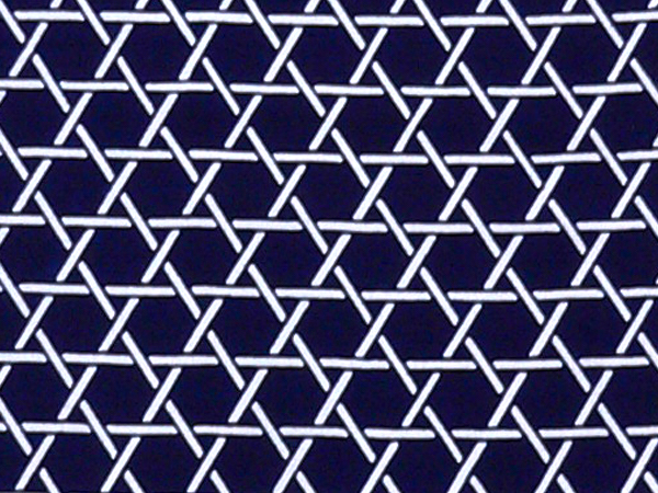 Kagome (wickerwork) pattern on Tenugui (Japanese traditional cloth)