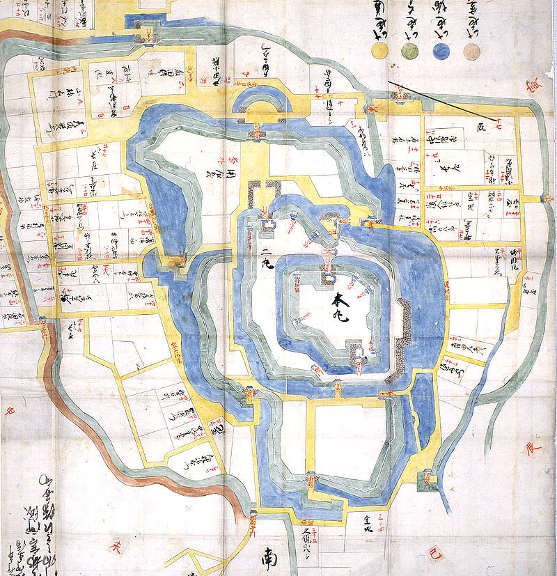 Nawabari - Layout of Utsunomiya Castle in the Edo period