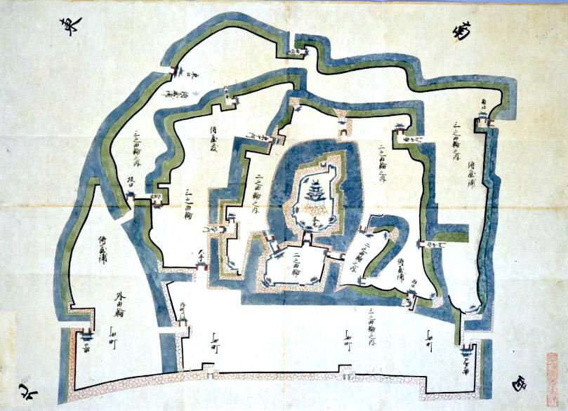 Nawabari, the Layout of Kishiwada Castle in Osaka