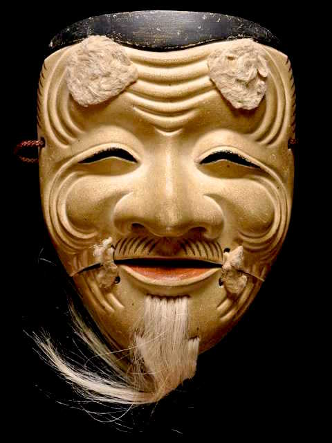 Noh, Okina mask which represents peace
