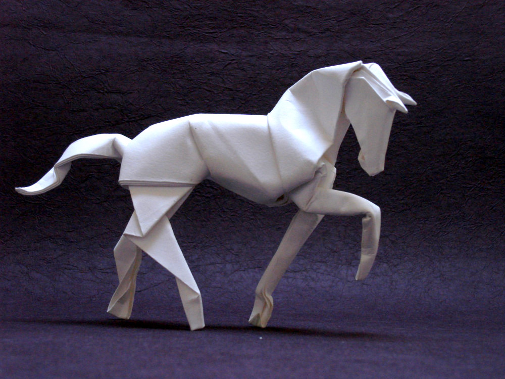 Origami art, Origami Horse by David Brill