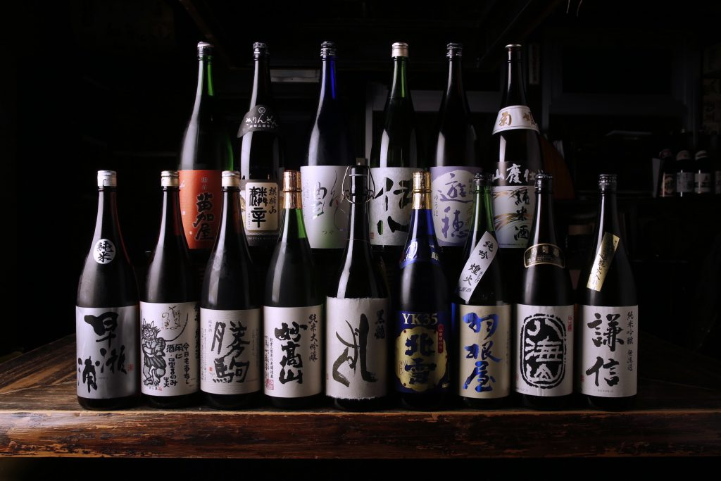 Sake from all over the region