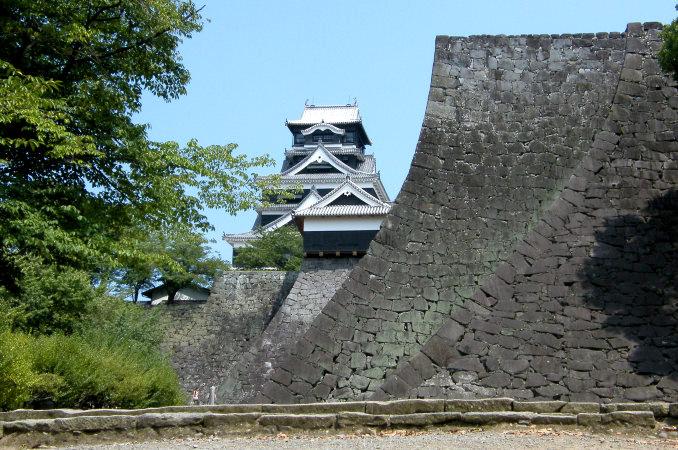 Stone Walls of Kumamoto Castle in Kumamoto
