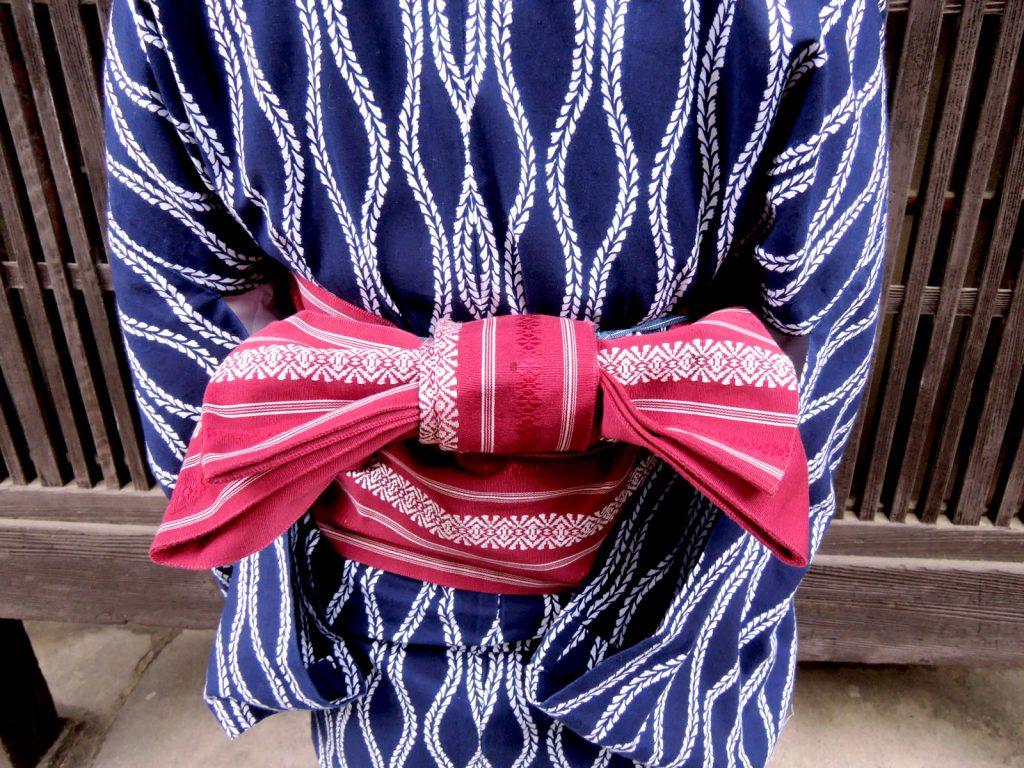 Tatewaku pattern on Yukata