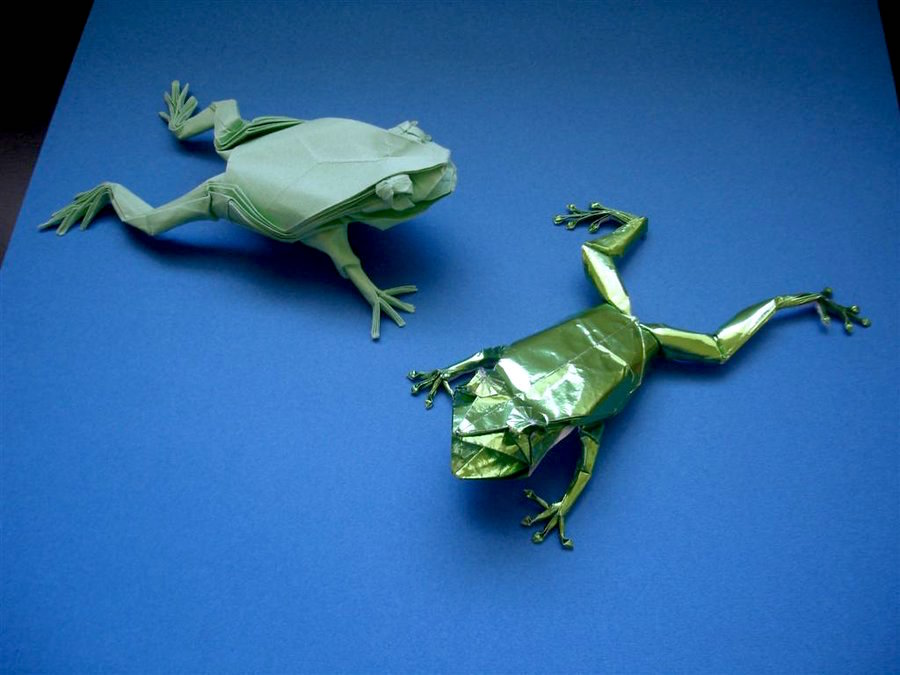 Tree Frogs by Origami Artist Galen