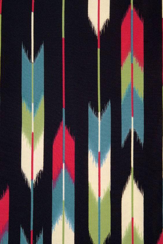 Large Yagasuri pattern