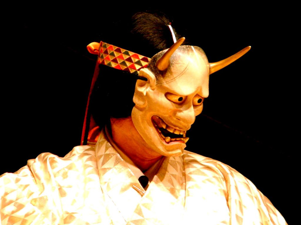Noh mask, Hannya in Aoi no Ue