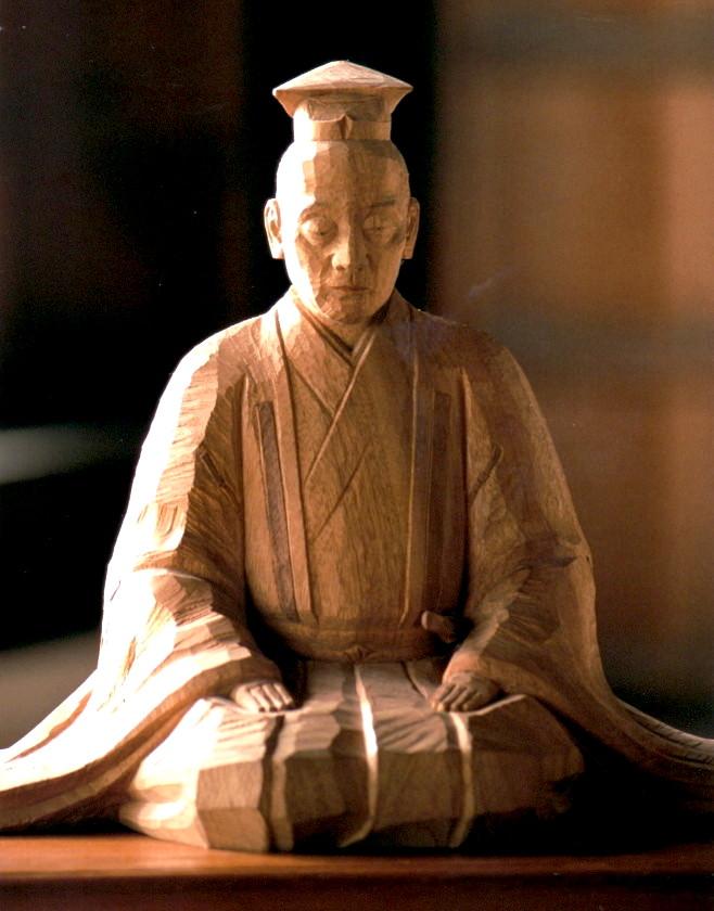 Wooden Statue of Zeami