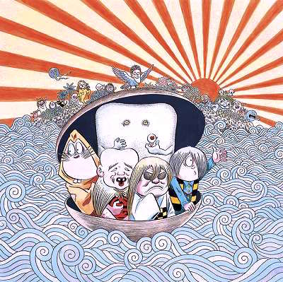 GeGeGe-no-Kitaro, Kitaro and his Yokai friends on the sea