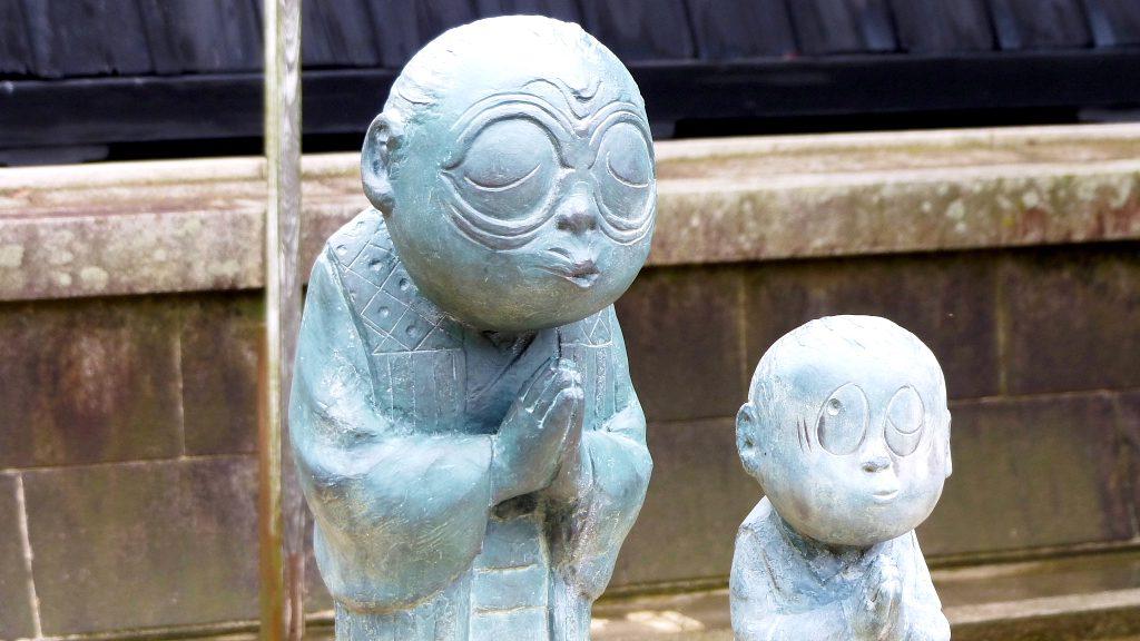 Non-non Ba and boy Mizuki statue in Izumo, Shimane