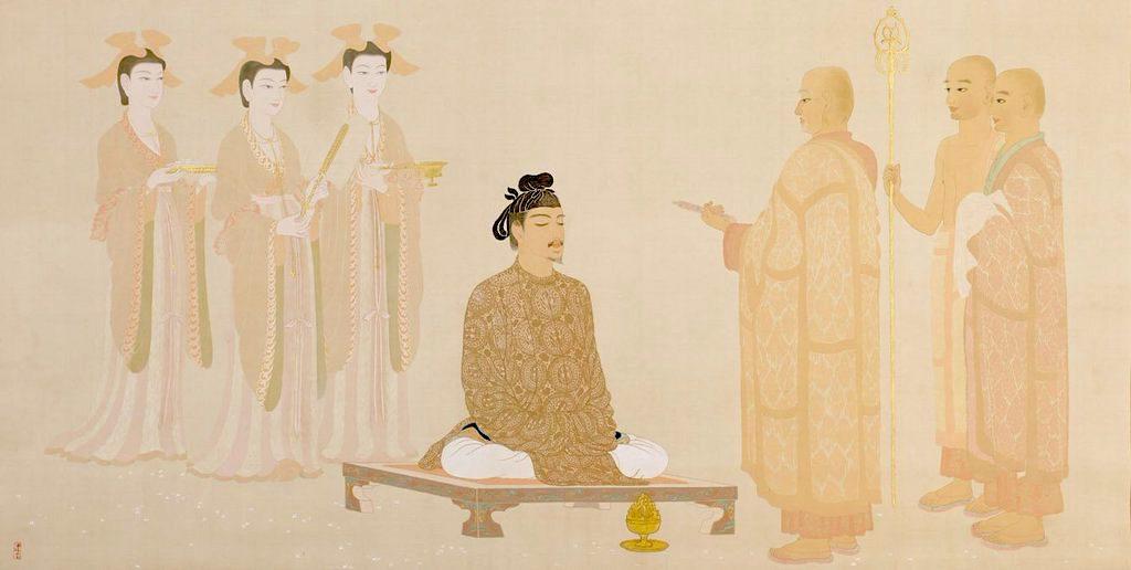 Prince Shotoku in Yumedono by Yasuda Yukihiko