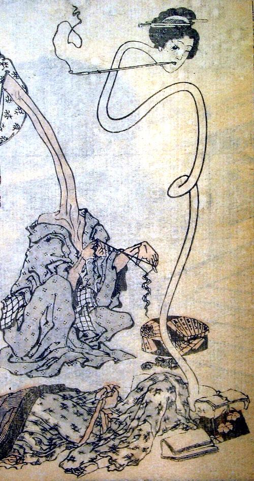 Rokurokubi in Hokusai Manga by Katsushika Hokusai