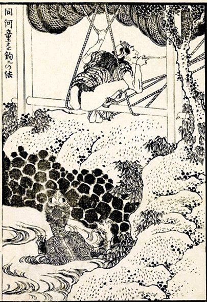 Kappa by Hokusai, how to catch Kappa