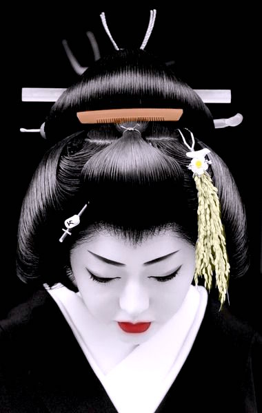 Geisha close up