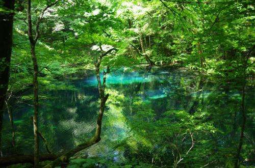 Juni lake in the Shirakami Mountain Range in Aomori