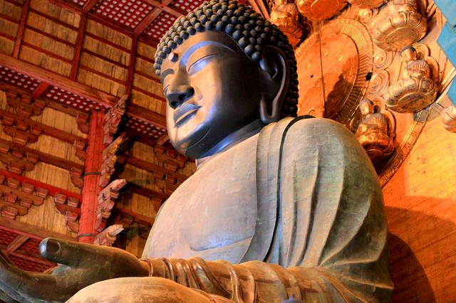 The Great Buddha at Todai-ji Temple in Nara