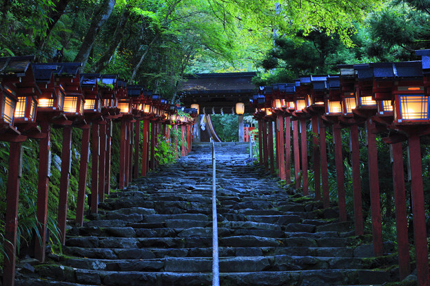 Toro - Lanterns at Kifune Shrine in Kyoto