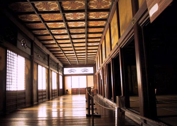Uguisu-bari (nightingale floor) in the Nijo Catsle in Kyoto
