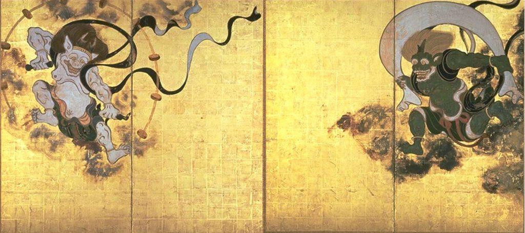 Fujin Raijin by Tawaraya Sotatsu