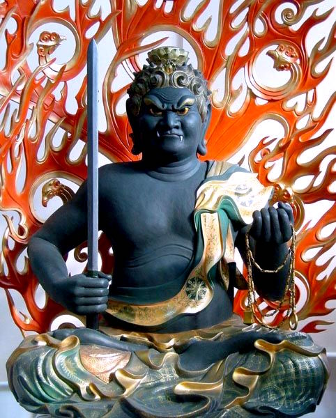 Seated figure of Fudo Myo-o