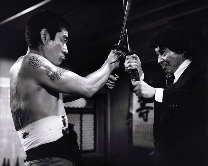Image from the movie The Yakuza, Ken Takakura on the left