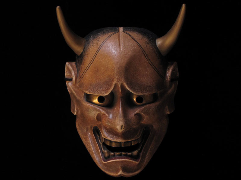 Noh Mask of Hannya by Noh Mask Artist Mugen Sugawara