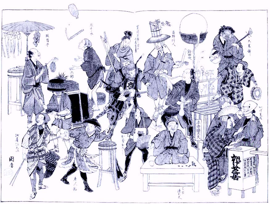 Peddlers in Edo