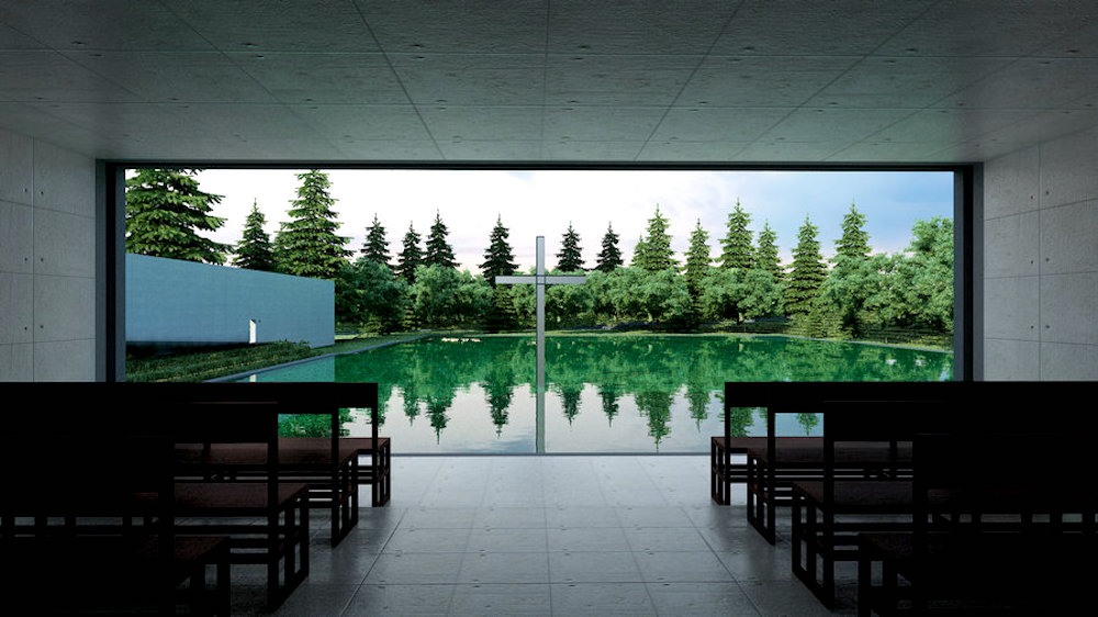 Church on the Water in Hokkaido, Japan by Tadao Ando