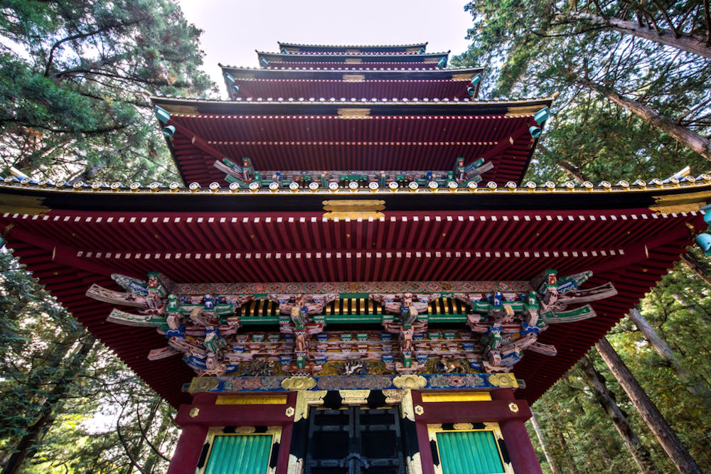 Five-Storied Pagoda of Nikko Toshogu in Tochigi, Japan