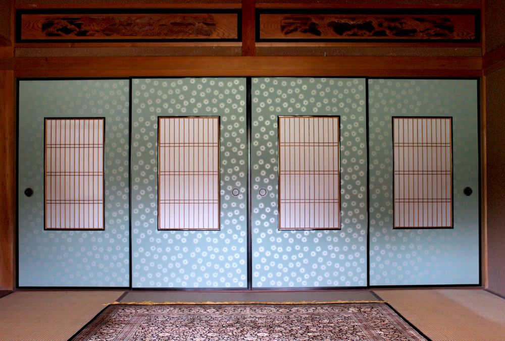 Genji-busuma, Framed and Papered Sliding Doors