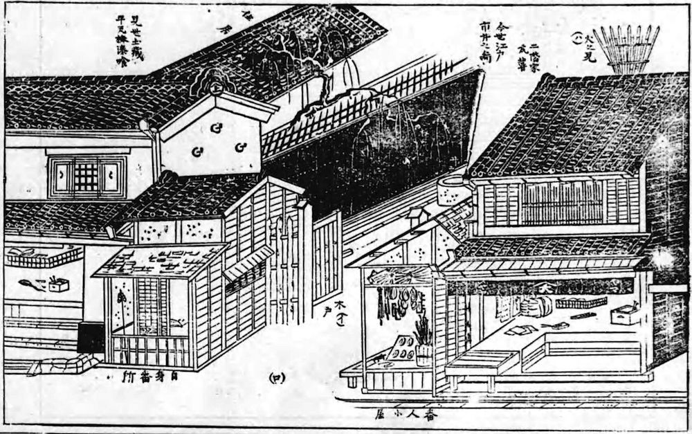 Machiya in Edo