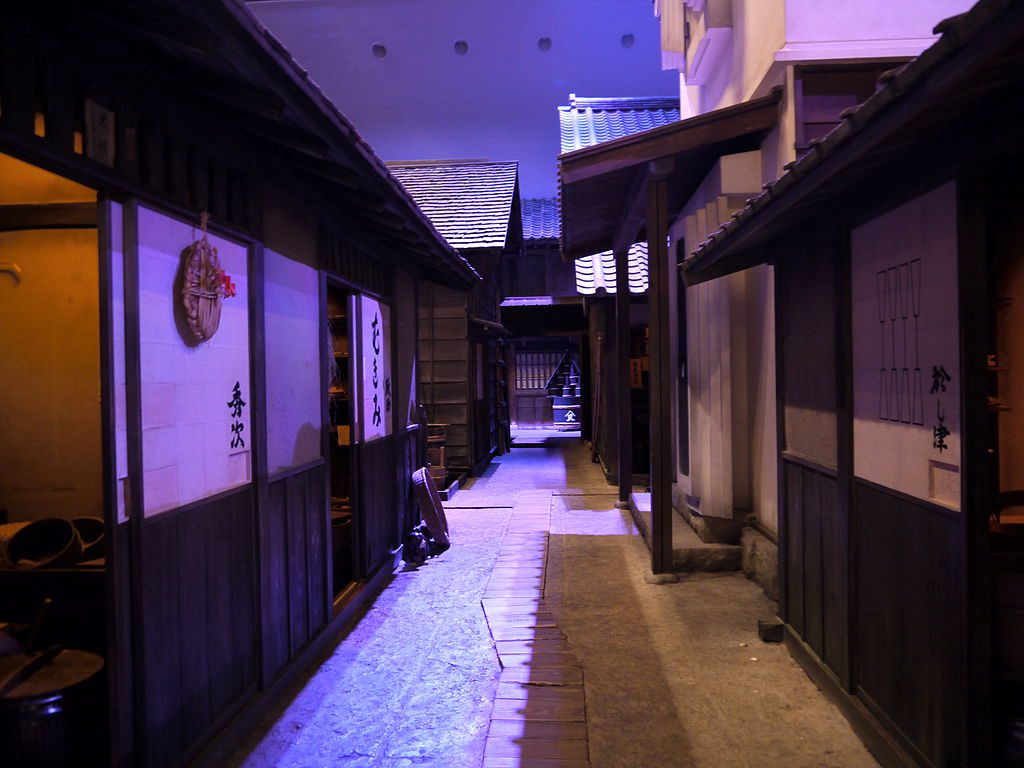 Reproduction of Nagaya in an alley in Fukagawa, Edo