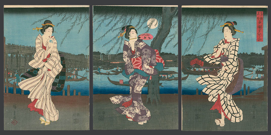 Ryogoku yu-suzumi (Enjoying the Evening Cool at Ryogoku Bridge)